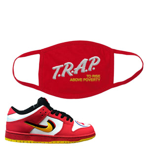 Nike Dunk Low Vietnam 25th Anniversary Face Mask | Trap To Rise Above Poverty, Red