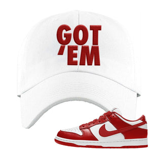 SB Dunk Low St. Johns Dad Hat | Got Em, White
