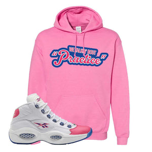 Question Mid Pink Toe Hoodie | Talkin Bout Practice, Azalea