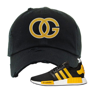 NMD R1 Active Gold Distressed Dad Hat | Black, OG
