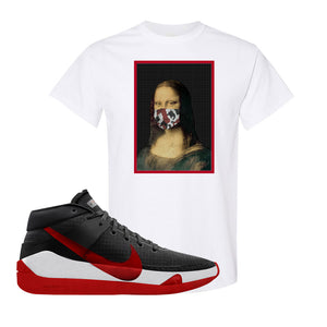 KD 13 Bred T-Shirt | Mona Lisa Mask, White