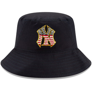 New York Yankees Stars and Stripes 2019 Fourth Of July On Field Training Bucket Hat