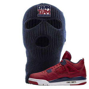 Jordan 4 FIBA Dream Team Navy Sneaker Matching Ski Mask