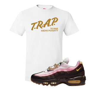 Air Max 95 Cuban Links T Shirt | White, Trap To Rise Above Poverty