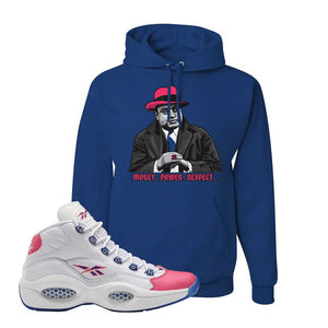 Question Mid Pink Toe Hoodie | Capone Illustration, Royal