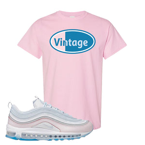 Air Max 97 DIY Flare T Shirt | Light Pink, Vintage Oval