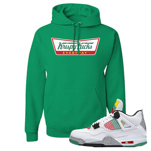 Jordan 4 WMNS Carnival Sneaker Kelly Pullover Hoodie | Hoodie to match Do The Right Thing 4s | Krispy Kicks