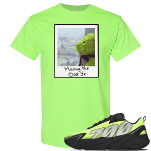 Yeezy 700 MNVN Phosphor T Shirt | Missing The Old Ye, Neon Green