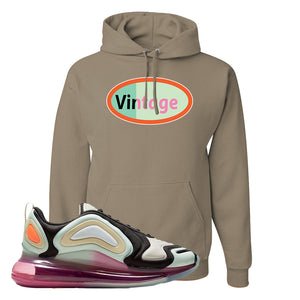 Air Max 720 WMNS Black Fossil Sneaker Khaki Pullover Hoodie | Hoodie to match Nike Air Max 720 WMNS Black Fossil Shoes | Vintage Oval