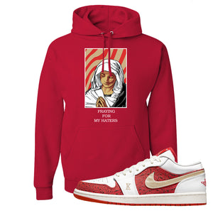 Air Jordan 1 Low Spades Hoodie | God Told Me, Red