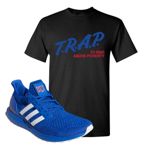 Ultra Boost 1.0 Kansas T Shirt | Trap To Rise Above Poverty, Black