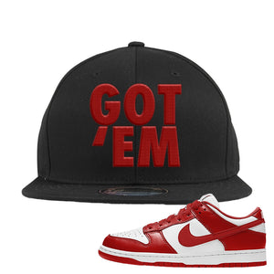 SB Dunk Low St. Johns Snapback Hat | Got Em, Black