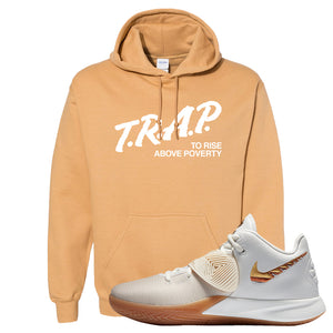 Kyrie Flytrap 3 Summit White Hoodie | Trap To Rise Above Poverty, Old Gold