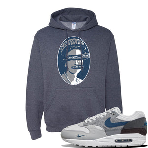Air Max 1 London City Pack Hoodie | Vintage Heather Navy, God Save The Queen