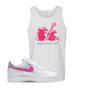 Air Force 1 Low Fire Pink Tank Top | White, Army Rats