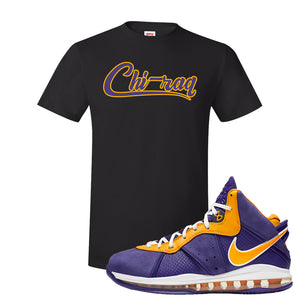 Lebron 8 Lakers T Shirt | Chiraq, Black