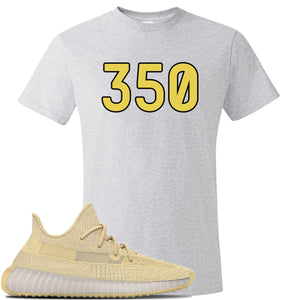 Yeezy Boost 350 V2 Flax Sneaker Ash T Shirt | Tees to match Adidas Yeezy Boost 350 V2 Flax Shoes | 350