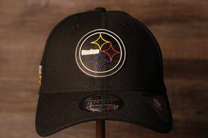 Steelers 2020 NFL Draft Flexfit | Pittsburgh Steelers 2020 NFL Draft Black Stretch Fit the front of this cap has the steelers logo in a neon sign like design