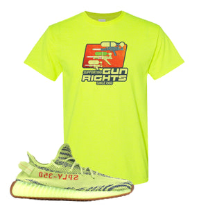 Water Soaker Safety Green T-Shirt to match Yeezy Boost 350 V2 Frozen Yellow Sneaker
