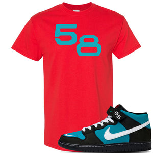 SB Dunk Mid 'Griffey' T Shirt | Red, 58