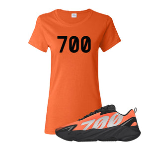 700 Orange Women's T-Shirt to match Yeezy Boost 700 MNVN Orange Sneaker