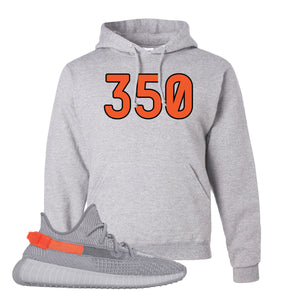 Yeezy Boost 350 V2 Tail Light Sneaker Ash Pullover Hoodie | Hoodie to match Adidas Yeezy Boost 350 V2 Tail Light Shoes | 350