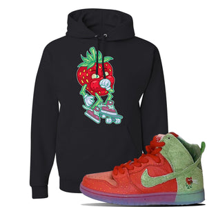 SB Dunk High 'Strawberry Cough' Hoodie | Black, Coughing Berry