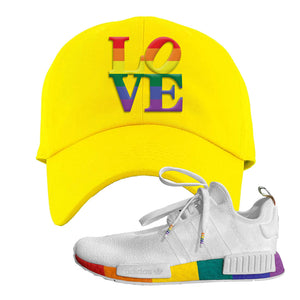 NMD R1 Pride Dad Hat | Yellow, Love Park