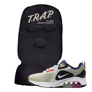 Air Max 200 WMNS Fossil Sneaker Black Ski Mask | Winter Mask to match Nike Air Max 200 WMNS Fossil Shoes | Trap To Rise Above Poverty