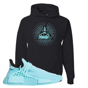 Pharell x NMD Hu Aqua Hoodie | All Seeing Eye, Black