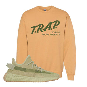 Yeezy 350 v2 Sulfur Crewneck | Old Gold, Trap To Rise Above Poverty