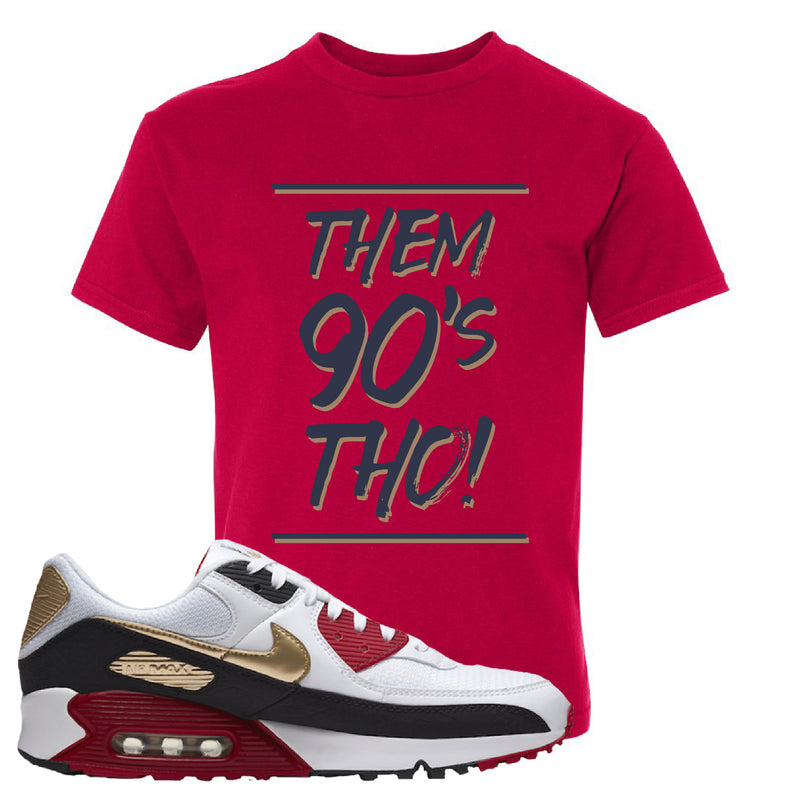 Air Max 90 Chinese New Year Kid's T Shirt | Deep Red, Them 90's Tho