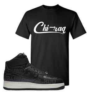 Air Force 1 High Hotline T Shirt | Chiraq, Black