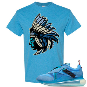 Air Max 720 OBJ Slip Light Blue T Shirt | Heather Sapphire, Indian Chief