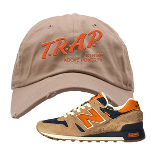 Levi's x New Balance 1300 Distressed Dad Hat | Khaki, Trap to Rise