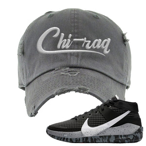 KD 13 Oreo Distressed Dad Hat | Chiraq, Dark Gray
