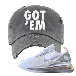 Air Max 720 Utility White Distressed Dad Hat | Dark Gray, Got Em