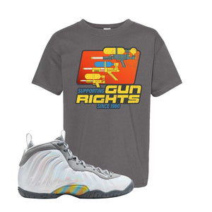 Lil Posite One Rainbow Pixel Kids T Shirt | Smoke Grey, Water Soaker