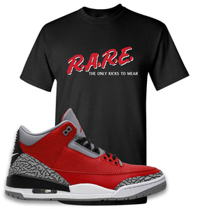 Jordan 3 Red Cement T-Shirt | Black, Rare