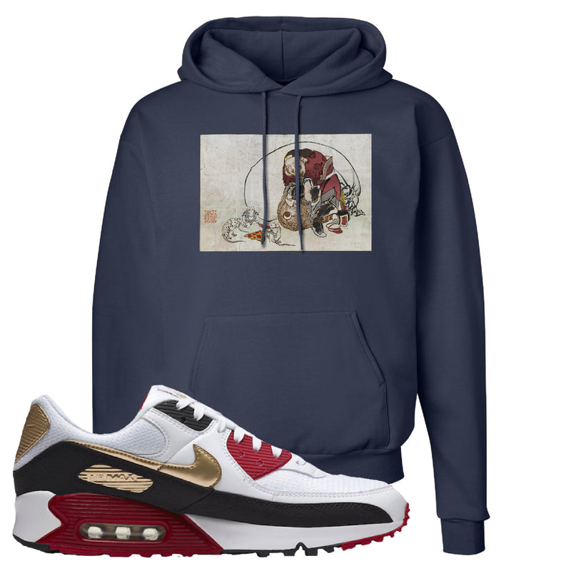 Air Max 90 Chinese New Year Hoodie | Navy Blue, Japanese Rat Party