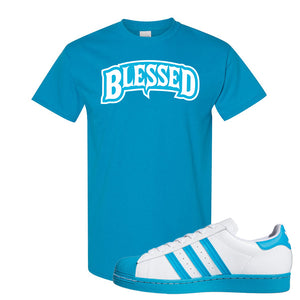 Adidas Superstar 'Aqua Toe' T Shirt | Sapphire, Blessed Arch