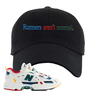 Aime Leon Dore X New Balance 827 Abzorb Multicolor 'White' Dad Hat | Black, Runners Aren't Normal