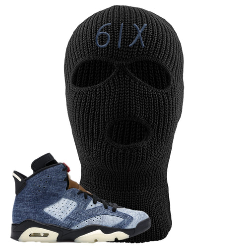 Air Jordan 6 Washed Denim 6IX Black Sneaker Hook Up Ski Mask