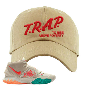 Kyrie 6 N7 Dad Hat | Khaki, Trap To Rise Above Poverty