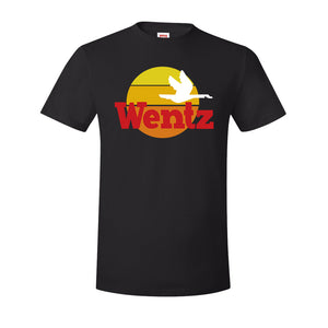Wentz WaWa T-Shirt | Wentz WaWa Black Tee Shirt the front of this t-shirt has the wentz wawa logo
