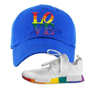 NMD R1 Pride Dad Hat | Royal, Love Park