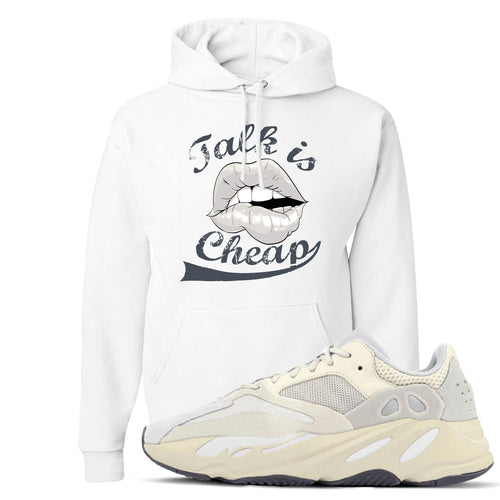 Yeezy Boost 700 Analog Sneaker Match Talk Is Cheap White Hoodie
