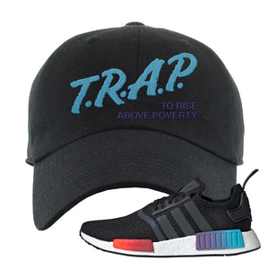 NMD R1 Gradient Dad Hat | Black, Trap To Rise Above Poverty