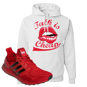 Ultra Boost 1.0 Nebraska Hoodie | Talk Is Cheap, White