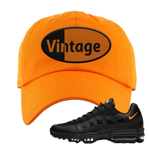 Air Max 95 Ultra Spooky Halloween Dad Hat | Vintage Oval, Orange
